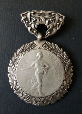 Médaille PREVOYANCE SOCIALE ARGENT Art Nouveau Lenoir silver medal 25 grs      0