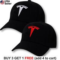 Tesla Logo Cap Emblem Motors T Embroidered Adjustable Hat Model S 3 X Y
