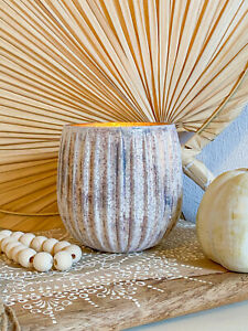 Clayre & Eef Teelichthalter Glas Beige Shabby Landhaus