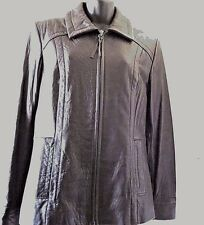 Liz Claiborne Leather Jacket Women's Black Medium Zipper Closure