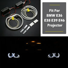 4x LED COB High Power Halo Rings Angel Eyes 131mm For BMW E46/E39/E38/E36 White
