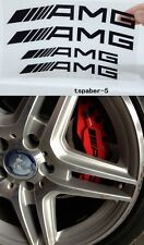 4Pcs Black AMG HI TEMP Vinyl Decal Caliper Brake Sticker