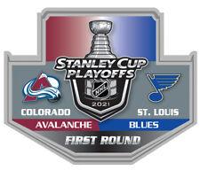 2021 STANLEY Tasse Playoffs Broche Colorado Avalanche Blues 1ST Premier Rond