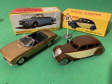 Dinky Toys De Agostini Peugeot 504 Cabriolet E 402 Taxi Mint Box