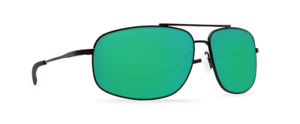 Costa Del Mar Shipmaster Polarized Sunglasses 580P Satin Black/Green Mirror