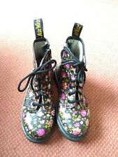 Vintage Rose Print Doc Martens, Used In Good Condition, Children's Size Uk 2