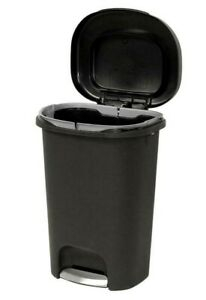 Rubbermaid Step On Trash Can Garbage Bin Waste Container Durable Indoor 13 Gal