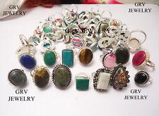 Wholesale Rings Lots Mix Gemstones 925 Sterling Silver Plated Handmade Jewellery