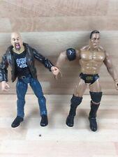 Wwe stone cold steve Austin And The Rock Titan Tron Wrestling figure Wwf