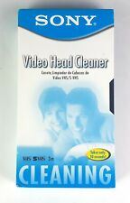 New listing Sony Video Head Cleaner Vhs S-Vhs 3m Cleaning Takes only 10 Seconds T-6Cldl