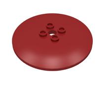 LEGO ® System - 1x SCUDO Dish Inverted 6 x 6 Radar Rosso Scuro Rosa 44375