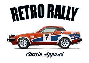 TRIUMPH TR7 t-shirt. RETRO BRIT. CLASSIC CAR. BRITISH LEYLAND. TONY POND. RALLY.