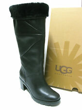 UGG AVERY WOMEN TALL BOOTS LEATHER BLACK US 6.5 /UK 5 /EU 37.5 /JP 235