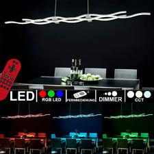 RGB LED Luxus Decken Hänge Lampe DIMMBAR Tageslicht Wellen Leuchte Fernbedienung