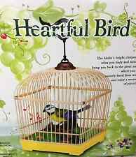 QUALITY ELECTRONIC  BIRD SINGING MOVING CHIRPING TOY PET BIRD IN CAGE