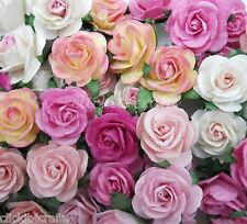 Roses wedding bulk flowers ebay 25 mulberry paper flowers wedding centerpiece scrapbook card home decor zr6 00 mightylinksfo