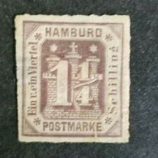 Germany, old Hamburg stamp mint w/hr and small thin