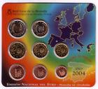 España 2004 SET OFICIAL FNMT numerados EMISION OFICIAL DEL EURO