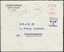 Timbres de grève n°12, Saint-Dié 0,10fr bleu voyagé sur lettre 24/05/1968 - TB