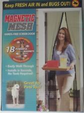 """magnetic mesh screen door hands free 83"""" X 39"""""""