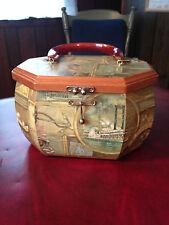 Vintage wood purse 1977-1989 Punk, New Wave, Box Mult-Color Cape Cod Unique gift