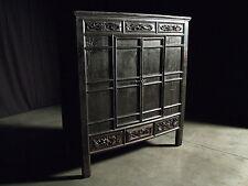 Beautiful Chinese Black Walnut Warrior Cabinet Antique