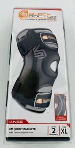 Shock Doctor 870 Knee Stabilizer w/ Flexible Support Stays - XLarge New