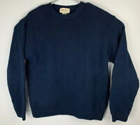 Eddie Bauer Long Sleeve Pullover Sweater Navy Blue Mens M Medium