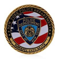 Golden New York Police Department Commemorative Challenge Coin Collection Gift
