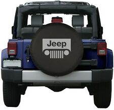 """Black Jeep Wrangler Grill Spare Tire Cover Wheel R17 32"""" New Free Shipping USA"""