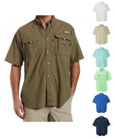 NEW COLUMBIA MEN BAHAMA SHORT SLEEVE SHIRTS, XS-S-M-L-XL-XXL