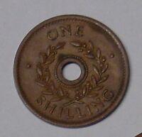 Internment Camp Coin. Australia 1940s copper shilling, gVF.