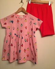 NWT HANNA ANDERSSON Girls Blossom Popover Skirted Floral Top & Bike Shorts sz 12