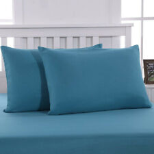 MOHAP 50*75cm Dyed Zipper Pillowcase Pillow Case Cover Soft King Size Pair Teal