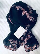 Paul Smith Women Scarf Made In Italy Silk Black