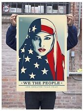 Shepard Fairey Greater Than Fear Offset print poster Obey Trump We The People