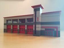 HO scale 1/87 Modern Fire Station Kit. doors slide open.