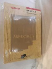 MANUALE MS DOS 5.0 MANUALE UTENTE Toshiba 1992 Tre volumi manuale introduzione