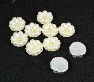 5 Small 7 Faux Pearl crystal Embellishments Craft DIY Jewellery Making 20mm