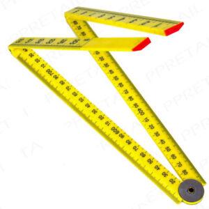 1m Folding Plastic Ruler Measuring Carpenter Builder DIY Ruler Metric Imperial