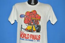 vtg70s NHRA WORLD FINALS 1978 ONTARIO CALIFORNIA DRAG RACE DEADSTOCK t-shirt S