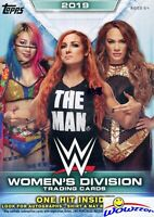 2019 Topps WWE Women's Division EXCLUSIVE HUGE Factory Sealed Blaster Box-HIT !