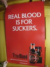 Tru Blood Poster Real Blood Is For Suckers All Flavor No Bite