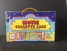 VTG Tara Toy Movie Cassette Case Storage For 10 VHS Movie Tapes Theater Theme