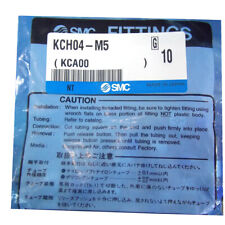 H● SMC KCH04-M5 Self-Sealing Quick Connector New.