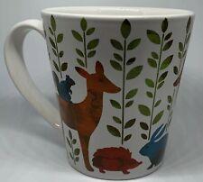 Signature Coffee Mug In The Woods Deer Rabbit Hedgehog Wolf Woodland Animals