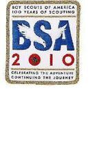 5 BOY SCOUT OFFICIAL 2010 CENTENNIAL 100 YEAR ANNIVERSARY PATCH + EMBLEM PIN SET