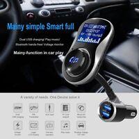 USB Chargeur de voiture sans fil Bluetooth FM Transmetteur MP3 Play Mains libre