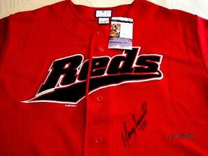 MANNY SARMIENTO Show Signed/Autographed Reds Baseball Jersey -JSA Authenticated