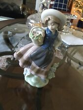 Lladro #5221 Girl With Basket Of Flowers Sweet Scent Figurine Mint With Orig Box